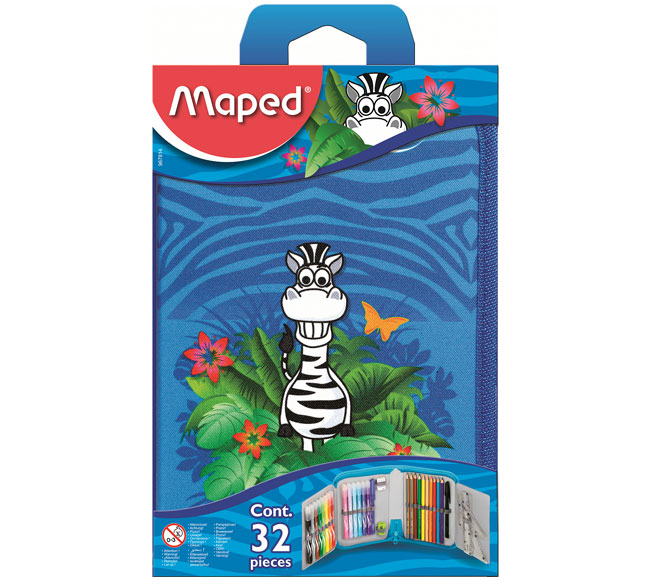 Пенал   1отд. Maped Jungle