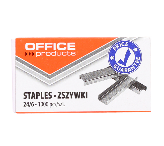 Скобы Office Products № 24/6, 1000 шт.