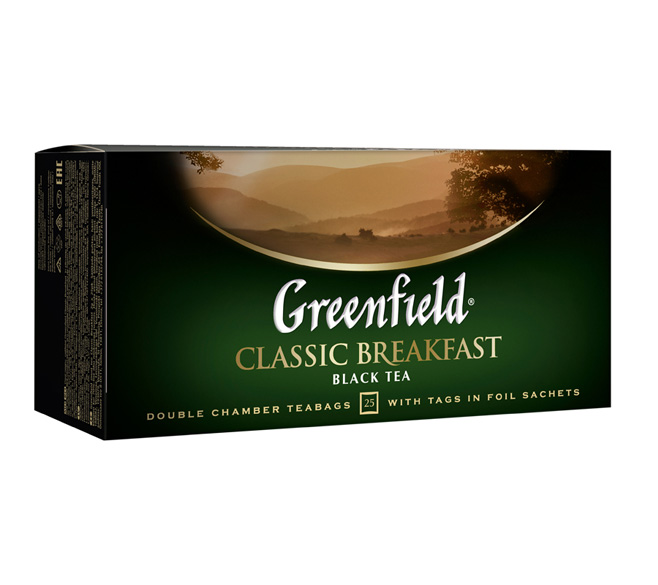 "Чай черный Greenfield ""Classic Breakfast"" 25пак.х 2г"