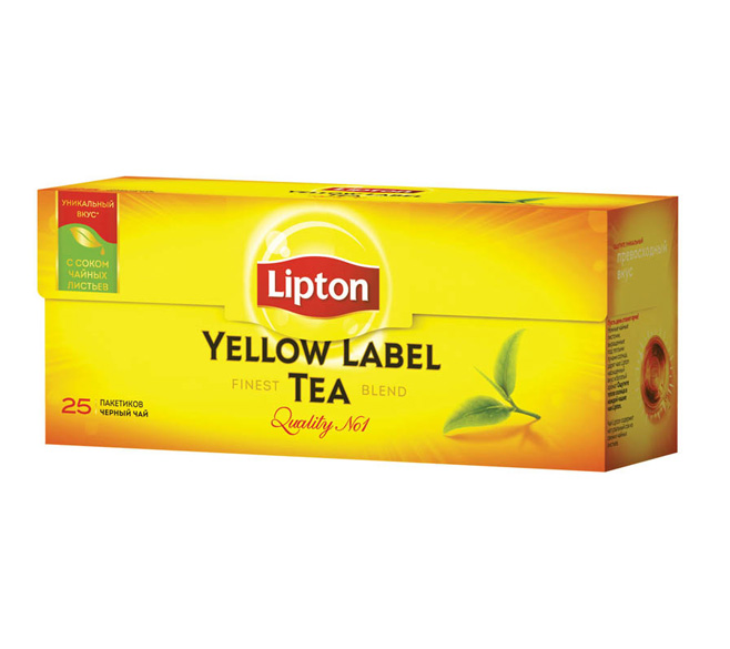 "Чай черный Lipton ""Yellow Label"" 25пак.х 2г"