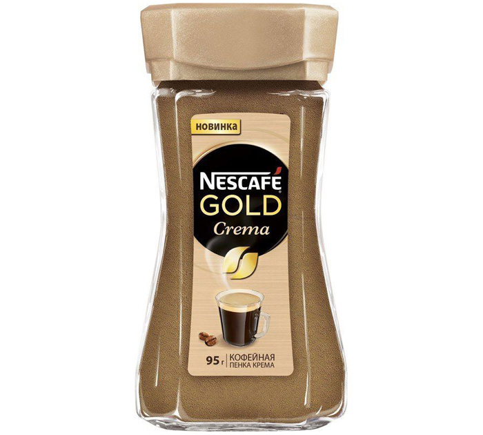 "Кофе растворимый Nescafe ""Gold.Crema"" 95гр стекл.банка"