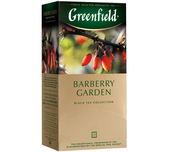 "Чай черный Greenfield ""Barberry Garden"" 25пак.х2г"